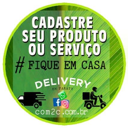 Cadastre seu produto ou serviço por delivery em Paraty